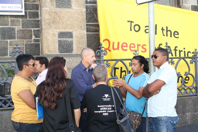 Queer Banner ~ Raising the banner with friends of David Olyn ~ 15 April 2014 (2) (640x427).jpg
